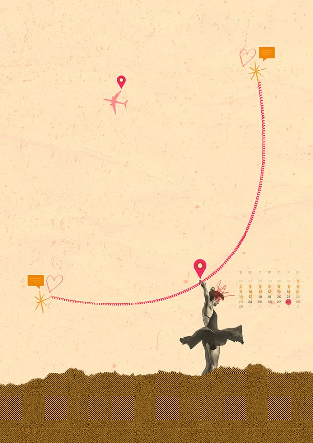 Long Distance collage illustration by Laura Redburn
