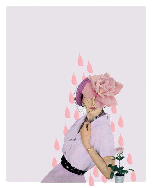 Shrinking Violet Collage for Betty Magazine by Laura Redburn