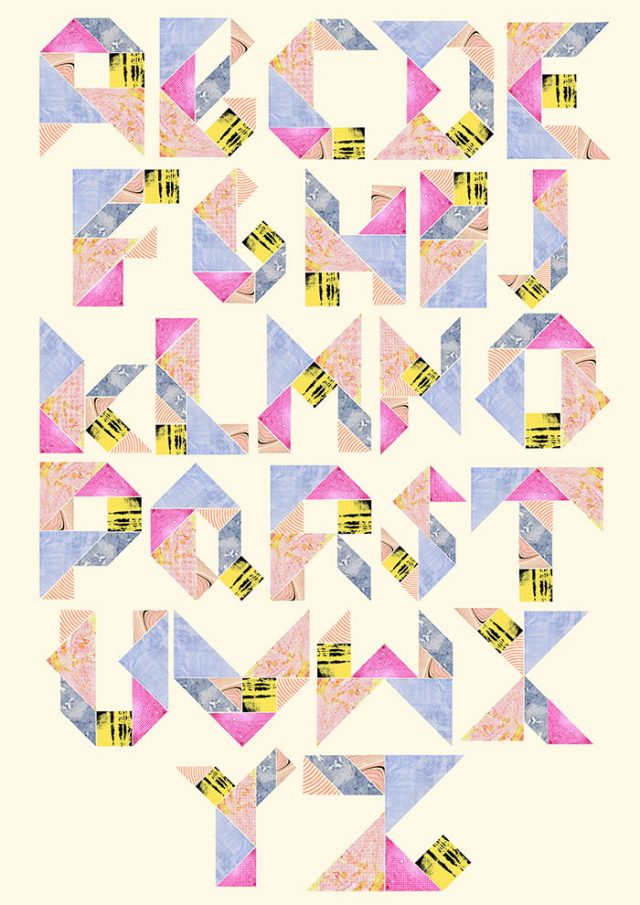 Tangram Alphabet by Laura Redburn