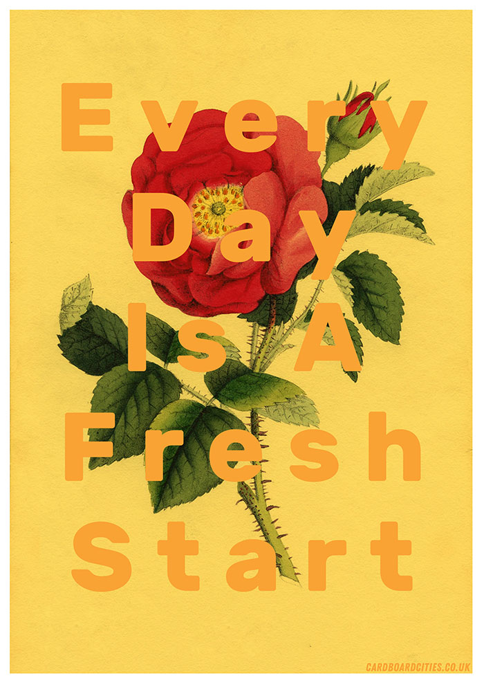Every Day is a Fresh Start illustration by Laura Redburn